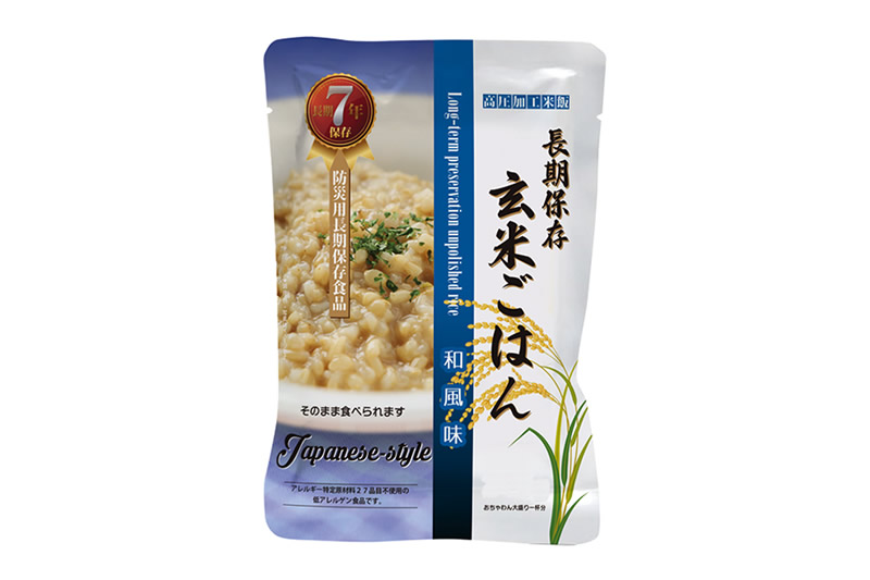 長期保存玄米ごはん 和風味